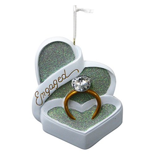 Engaged Heart Shaped Box and Ring with Gem Ornament