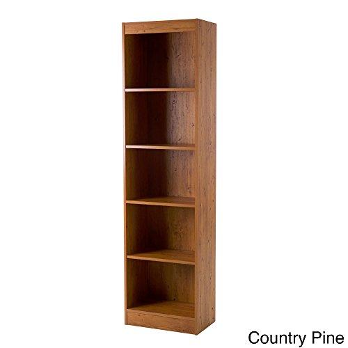 Tall Skinny Bookshelf Country Pine 5-shelf Narrow (Tall Skinny Shelves)