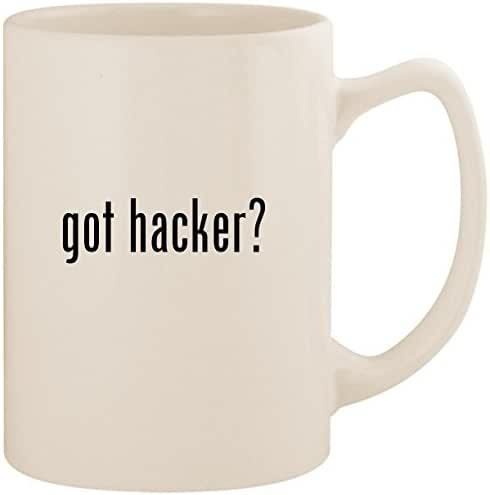 got hacker? - White 14oz Ceramic Statesman Coffee Mug Cup