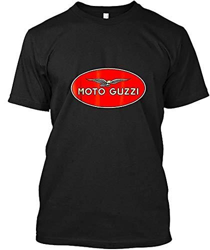Valanza Moto Guzzi Retro T Shirt T-Shirt|Sweatshirt,Black,M