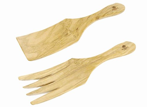 - Berard Olive-Wood Handcrafted Wide Spaghetti/Salad Server