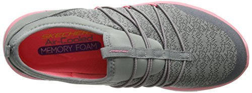 Skechers Sport Damen Synergy 2.0 Simply Chic Fashion Sneaker Graues Rosa