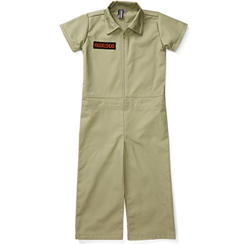 Born to Love Kids Coverall for Boys, Mechanic Halloween Jumpsuit Costume Baby Outfit (12-18, Olive) for $<!--$39.99-->