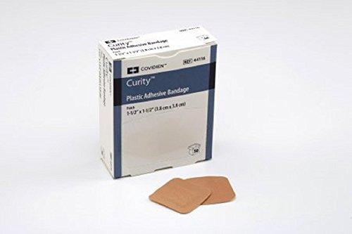 ot Bandage 1-1/2 Inch Plastic Square Tan Sterile- box of 100 ()