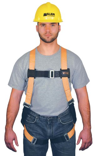 Miller Titan by Honeywell TF4000/S/MAK Polyester T-Flex Stretchable Harness, Small