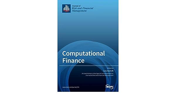 Amazon Com Computational Finance 9783039369669 Stentoft Lars Books