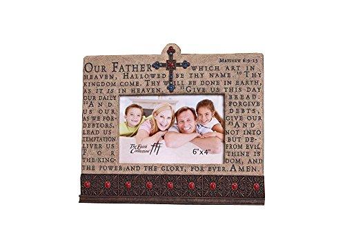 The Faith Collection FC-1333 Resin Lord's Prayer Frame, 6'' x 4'' by Faith Collection