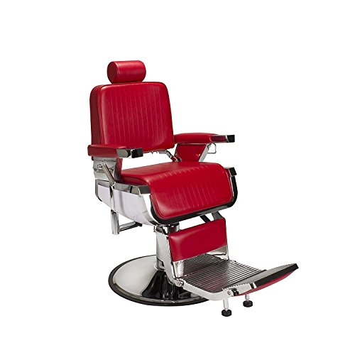 Barber Chair RED LINCOLN Iron Cast Metal Structure Styling Barber Shop (Cast Seat Side Chair)