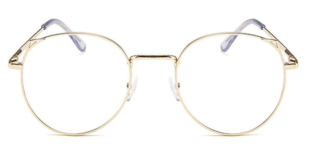 PANGHU Hombre y Mujeres Vintage Retro del Metal Vidrios Claros de la Manera Gafas Montura Gafas