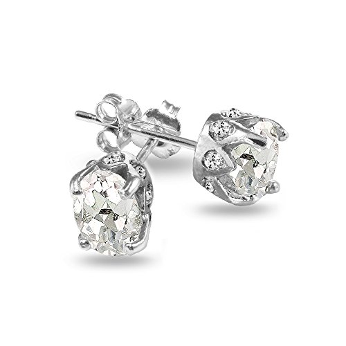 sterling-silver-genuine-created-and-simulated-gemstone-white-topaz-oval-crown-stud-earrings
