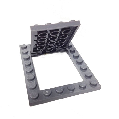 Lego-Parts-Plate-Modified-6-x-8-Trap-Door-Frame-Horizontal-with-Door-Complete-Assembly-DBGray