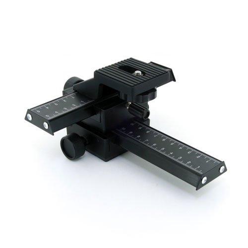 Zykkor 4 way Macro Focusing Rail Slider for SLR DSLR Camera ()