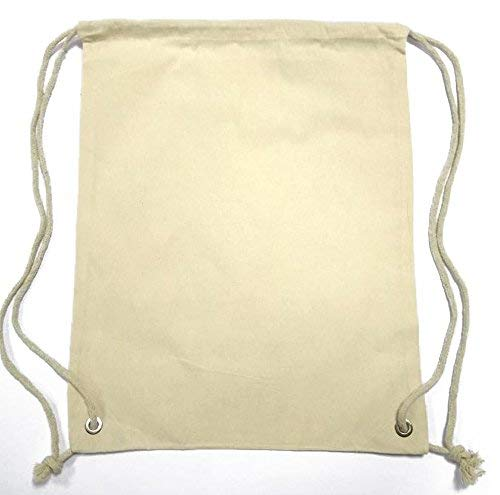 Cottonbagjoe Pequeño Algodón mochila bolsa de tela bolsa de deporte bolsa de deporte para niños Guardería Infantil Escolar Deporte de enseñanza para pintar ...