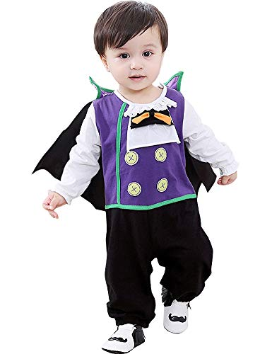 FANCYINN Baby Halloween Gothic Vampire Costume Boys Dracula Toddler Outfits Count Cutie Animal Cosplay