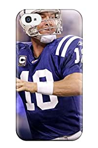 Hot Design Premium Tpu Case Cover Iphone 4/4s Protection Case(peyton Manning)