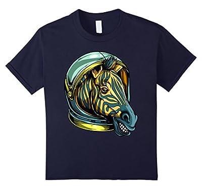 Striped Space Zebra Astronaut Funny T-Shirt