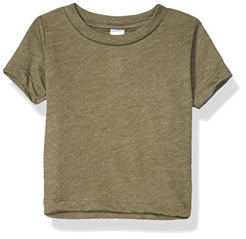 Marky G Apparel Baby Triblend Short Sleeve T-Shirt, Olive, 18-24 Months