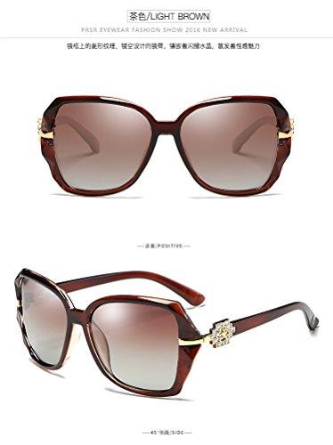 Xue Polarizantes Azul Gafas para Gafas Big De Frame Sol zhenghao Mujer Bronceado qSZAq6