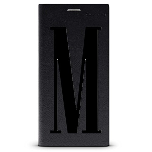 Luxendary Black Initial M3 Cool Design iPhone X Black Leather Wallet Case - Hickory Black