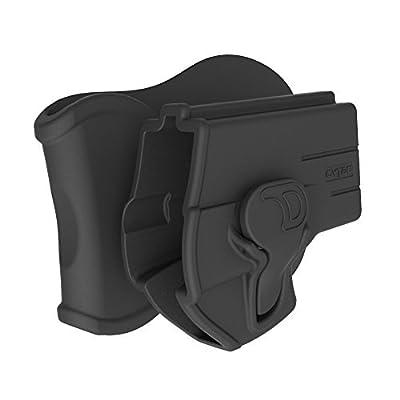 Taurus Millennium G2 Paddle Holster Fit PT111 PT132 PT138 PT140 PT145 PT745, OWB Tactical Pistol Holsters with Trigger Release Adjustable Cant, Black