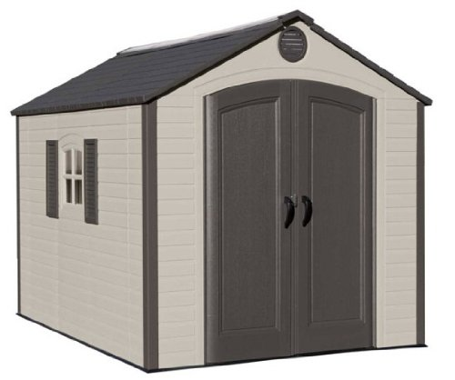 081483064055 - Lifetime 6405 Outdoor Storage Shed with Window, Skylights, and Shelving, 8 by 10 Feet carousel main 0