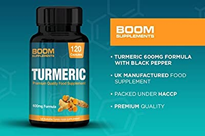 Tumeric Curcumin Supplement with Bioperine | Tumeric with Black Pepper Capsules 600mg Max Strength | 120 Turmeric Capsules | 4 Full Month Supply | Safe and Effective