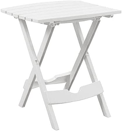 NAKSHOP Foldable Patio Table is Plastic White Small Patio Mini Picnic and Nice Collapsible and eBook