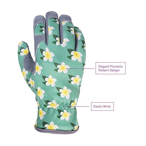SKYDEER Womens Gardening Gloves with Deerskin Leather Suede for Yard Work, Rose Pruning and Daily Work by SKYDEER (Image #1)