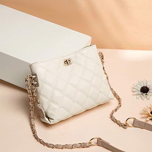 Small Crossbody Bags for Women Purses Fashion Leather Lightweight Handbags Shoulder Bag(Beige)