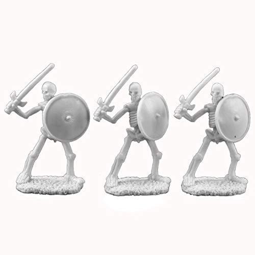 (Reaper RM77017 77017: Skeletal Swordsmen (3) Dark Heaven Legends Bones Miniatures, One Size )