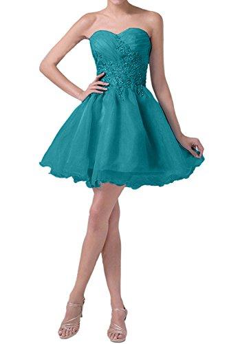 mia Blau Braut Tuerkis Abendkleider La Cocktailkleider Tanzenkleider Promkleider Mini Damen mit Stickreien dtqx5w54B