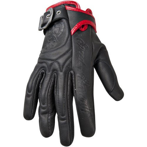 Speed and Strength Motolisa Women's Leather Sport Bike Motorcycle Gloves - Black / Small