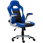 JinQi Racing Chair Ergonomic Executive High-Back Computer Gaming Chair PU Leather Office Chairs