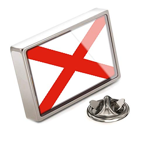 NEONBLOND Lapel Pin Alabama Flag Region: America (USA)