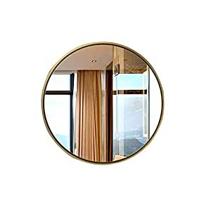 HU WU Espejo para baño: Soporte de Pared Redondo, Soldadura sin Soldadura, Revestimiento al vacío, Espejo HD (tamaño Opcional): Amazon.es: Hogar