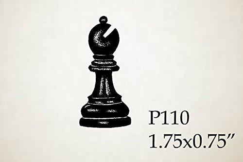 P110 Chess piece-bishop Rubber Stamp