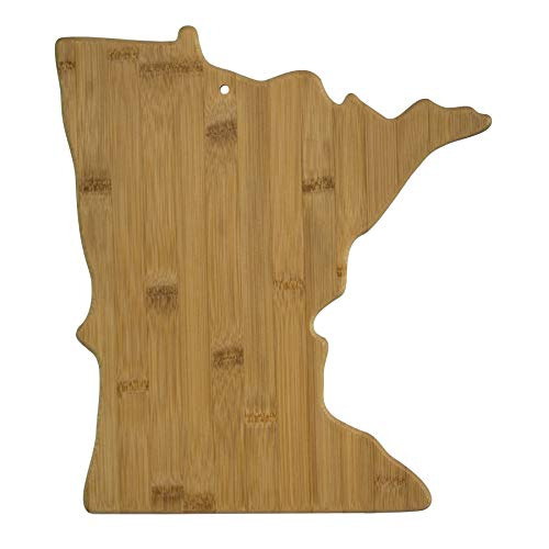 Totally Bamboo 20-7955MN Minnesota State Shaped Bamboo Serving & Cutting Board,
