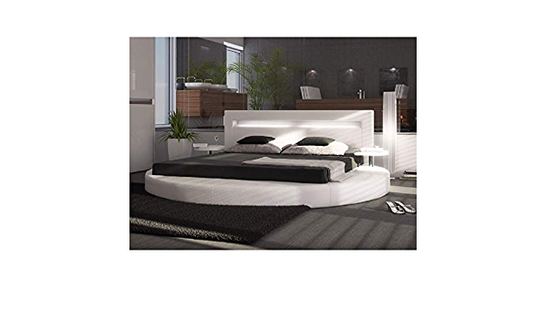 Cama redondo sueño 5 – 160 * 200 cm somier incluidos): Amazon ...