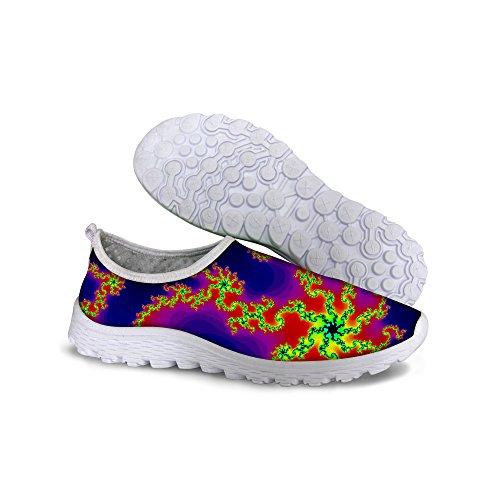 For U Design Stilige Lette Praktiske Mesh Sneaker Joggesko For Kvinner Lilla En