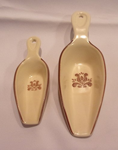 "Pfaltzgraff Village Pattern Scoops 5"" and 7.5"" Length"