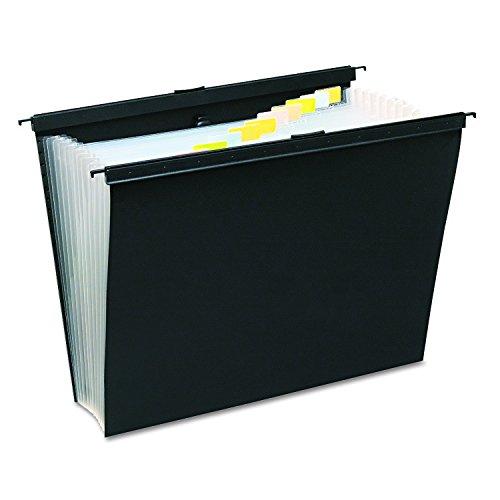 Wilson Jones 68205 Slide-Bar Expanding Pocket File, 13 Pockets, Poly, Letter, Black (Pocket Slide Bar)