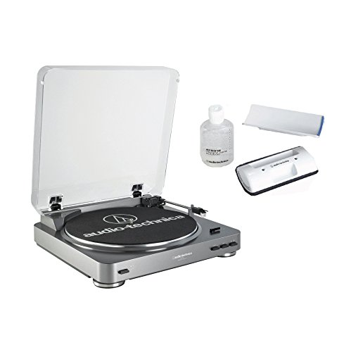 (Audio Technica AT-LP60 Fully Automatic Stereo Turntable System, Silver)