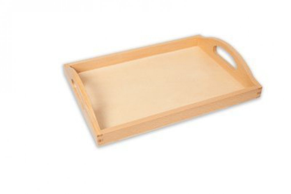 Small Quality Beech Wooden Tray (Internal Dimensions Of Base = 11 X 7 Inches) by Amazing Child Montessori