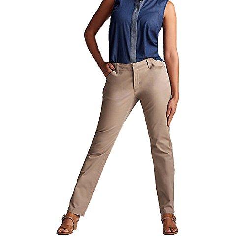 LEE Womens Platinum Series Essential Chino, Light Fawn, Size 14 Womens Platinum Series