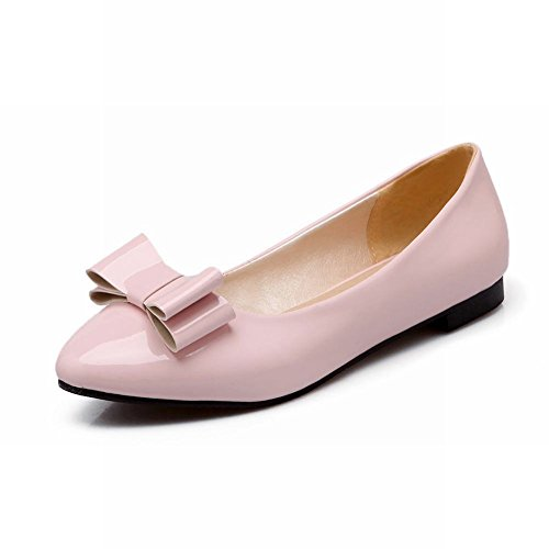 Carol Shoes Chic Womens Sweet Bows Polsino Casual Eleganza Scarpe Mocassini Mocassini Scarpe Rosa