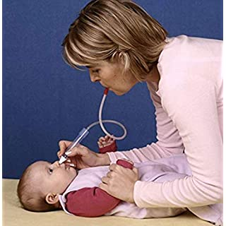 Baby Nasal Aspirator with 24 Hygiene Filters, Snot Sucker for Newborns to Toddlers, Mucus Aspirator for Baby, Non-Toxic Mucus Extractor, Cleanable and Reusable Nasal Congestion Relief for Infant