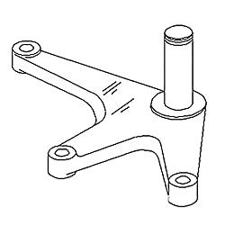 AR93359 New Bellcrank Made to Fit John Deere Tract