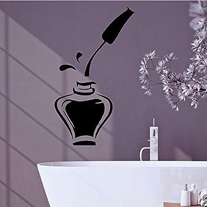 yaonuli Cosméticos de Moda Etiqueta de la Pared Vinilo Autoadhesivo Etiqueta de la Pared a Prueba de Agua Decoración del hogar Etiqueta de la Pared Papel Pintado a Prueba de agua36X36cm