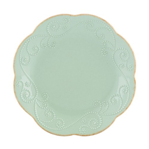 Lenox French Perle Dessert Plates, Ice Blue, Set of (French Dinnerware Salad Plate)