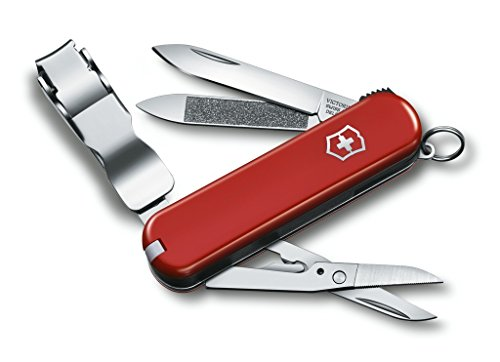 (Victorinox Swiss Army Nail Clip 580 Swiss Army Knife, Red)